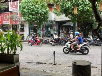 hustle and bustle on the streets of Ubud